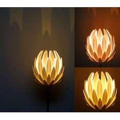 Vintage satin art glass lampshade acanthus flower lamp shade matte lotus lamp 3 aloadofball Choice Image