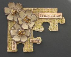 Jigsaw puzzle art n crafts Puzzle Piece Crafts, Puzzle Art, Puzzle Pieces, Fabric Paper, Paper Art, Paper Crafts, Puzzle Jewelry, Scrapbooking, Architecture Tattoo