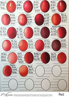 Passionate Paper Creations: Copic Color Combo Sheets