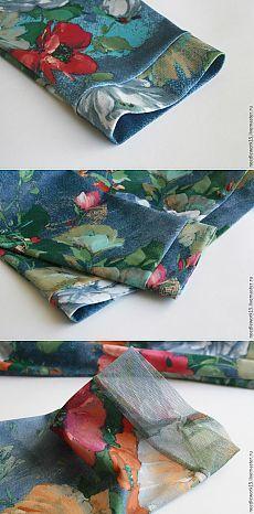 Три варианта обработки низа рукава из деликатных тканей