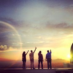 Instagrammers at Griffith Observatory. Instagram, sunset, los angeles