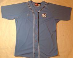 Vintage Nike North Carolina Tar Heels Baseball Jersey Size Large   eBay