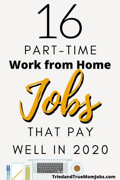If you want to work from home in 2020 you've got to read this list. Finally, a list of legitimate home-based jobs that people actually do today. See what your options are, how to get started, where to apply, and most importantly how much you can earn! Ways To Earn Money, Earn Money From Home, Earn Money Online, Online Jobs, Way To Make Money, Online Income, Money Tips, Legit Work From Home, Legitimate Work From Home
