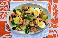 Lohisalaatti - Reseptit - Ilta-Sanomat Potato Salad, Salads, Potatoes, Ethnic Recipes, Food, Potato, Essen, Meals, Yemek