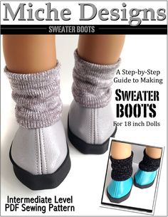 "Sweater Boot 18"" Doll Shoes"