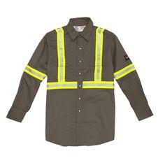 fc2ed9d4fde1 Rasco FR Lightweight Work Shirt with Reflective Striping
