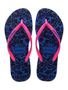 Havaianas Womens Slim Cool Flip Flops  Malibu Blue 4142 * To view further for this item, visit the image link.(This is an Amazon affiliate link)
