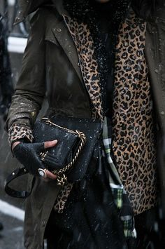 Snowy street style at New York Fashion Week: Outside Rag