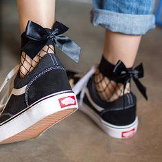 2017 Mode Schattige vrouwen Harajuku Zwarte Mesh Korte Sokjes Grid visnet  Dokken Sexy Boog Grappige Dames Sokken In De Netto Sokken in 2017 Mode  Schattige ...