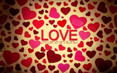 Pin By Gloria Ponziano On Seeing Red Heart Love Love Wallpaper
