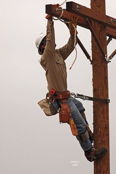 Power lineman risk their lives in all types of weather to make sure our homes have power!
