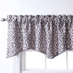 over sink in kitchen -  Bryce Chenille Scalloped Valance with Cording