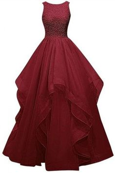 2016 Real Charming Long Burgundy Prom Dresses,Ball Gown Beading Prom Gowns,Sparkly Prom Dress For Girls