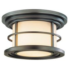 Feiss Lighthouse 2-Light Outdoor Burnished Bronze Ceiling Fixture-OL2213BB - The Home Depot