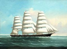American clipper ship, painted in typical style by Chinese artist Lai Fong http://www.wikiwand.com/en/Clipper