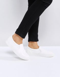 ASOS DIANNA Slip On Sneakers - White