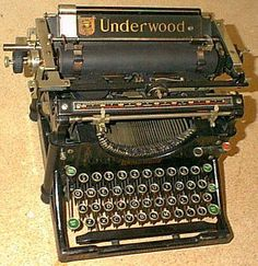 Old typewriter   1915. Does anyone remember typewriters, not especially this old?