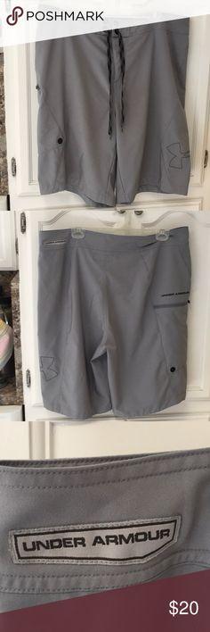 75cdb55f1 Gray under armor shorts size 38 Gray under armor shorts size 38 these shorts  have been