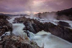 Great Falls Park in Virginia has many opportunities to explore history and nature, all in a beautiful 800-acre park only 15 miles from the Nation's Capital. Explore one of the nation's first canals, see the Great Falls of the Potomac River or enjoy a hike along Mather Gorge's dramatic clifftops. Pictured here is an early morning view of the stunning waterfalls. Photo by Michael Leung (www.sharetheexperience.org).