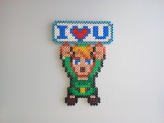 Link (Legend of Zelda) (Hama Beads MIDI)
