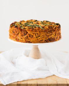 Spaghetti Pie http://www.kelseynixon.com/spaghetti-pie/