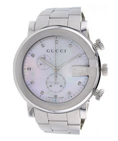 Take a look at this Mother-of-Pearl & Stainless Steel G-Chrono Watch by Gucci on #zulily today!