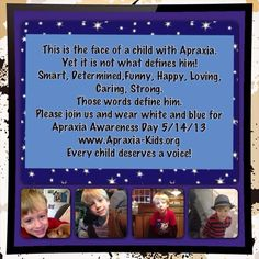 Faces of Apraxia - My Angel!  So proud to be his Mommy!  <3