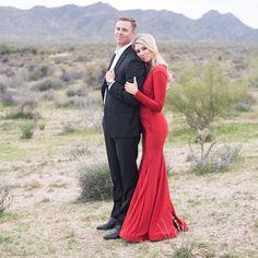 Black Tie Desert Engagement Photos