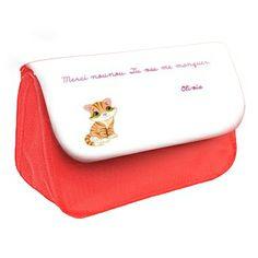 Cadeau personnalisé avec texte d'enfant. Rabat disponible en plusieurs coloris.