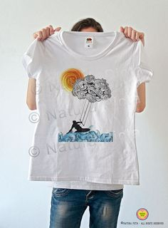 Kitesurfing tee-kite t-shirt-kitesurfing tank by naturapicta