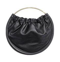 Buy H&M Women's Black Round Leather Bag. Spring Handbags, Tote Handbags, Purses And Handbags, Leather Purses, Leather Handbags, Leather Bags, Real Leather, Best Purses, Round Bag