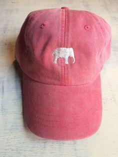63244757 Elephant hat, Elephant baseball hat, Elephant baseball cap, pigment dyed hat,  Gameday hat, Alabama hat