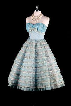 Sky Blue Chiffon Prom Dress