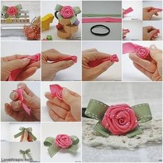 DIY ribbon rose cute pink rose ribbon diy craft handmade crafts easy crafts diy ideas diy crafts do it yourself crafty easy diy diy tips diy images do it yourself images diy photos diy pics easy diy craft ideas diy tutorial diy tutorials diy tutorial idea diy tutorial ideas