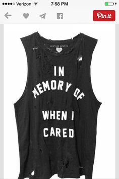 "New purchase. ""When I cared"" ....."