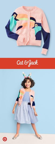 755d208e3b Girls  Toucan Cardigan - Cat   Jack™ Light Pink