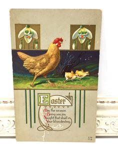 Vintage Easter Postcard Vintage Postcard Easter Card Easter