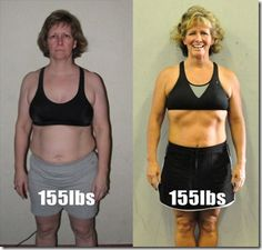 (not me)  inspiring before/after, same weight but more muscle and toned.  :)  Silly scales mess with my head!  lol