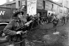 British soldiers in Belfast 1969