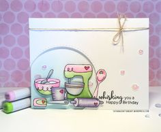 Baking Birthday Card by Tatiana Craft and Art  | Made from Scratch stamp set by Newton's Nook Designs #newtonsnook