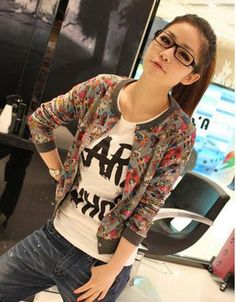 2015 New Arrival Vintage Floral Printing Hoodies Sweatshirt Fashion Autumn women's Zipper Hooded women's Clothing Cute Swag Outfits, Casual Outfits, Fashion Outfits, Korean Girl Fashion, Trendy Fashion, Asian Fashion, Coats For Women, Jackets For Women, Clothes For Women