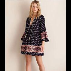 Sale Harper Floral Print Lace-Up Dress