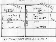 Slim specialty doll dress pattern by Susan Kramer
