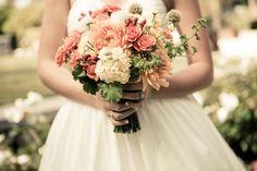 Peach Bridesmaid Dresses 2012 | peach-wedding-bouqet