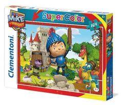 ¡Mike el Caballero al ataque! Un puzzle divertido y sencillo de 104 piezas para que jueguen los más pequeños. Marca Clementoni