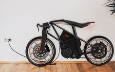 Men Motorcycle - motorized bicycle - Commuters looking for an environmentally friendly yet efficient way to travel around urban hubs can look no further than the KTM Ion Concept Motorc. Motorcycle Design, Bicycle Design, Motorised Bike, Velo Vintage, Concept Motorcycles, Futuristic Motorcycle, Drift Trike, Motorized Bicycle, Chopper Bike