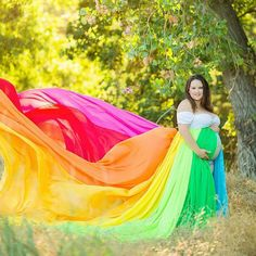 Hey, I found this really awesome Etsy listing at https://www.etsy.com/listing/462813867/maternity-gown-rainbow-baby-session