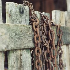 Rusty Chains Fine Art Photography Slovakia by siobhanphotography