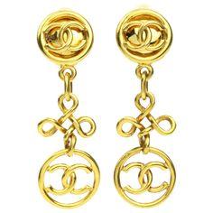 Chandelier Logo Earrings   Chanel   Catchys