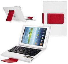 COD(TM) Bluetooth Keyboard Tablet Stand Leather Case for Samsung Galaxy Tab 3 7.0